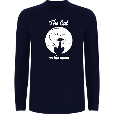 Camiseta manga larga chico - The cat on the moon