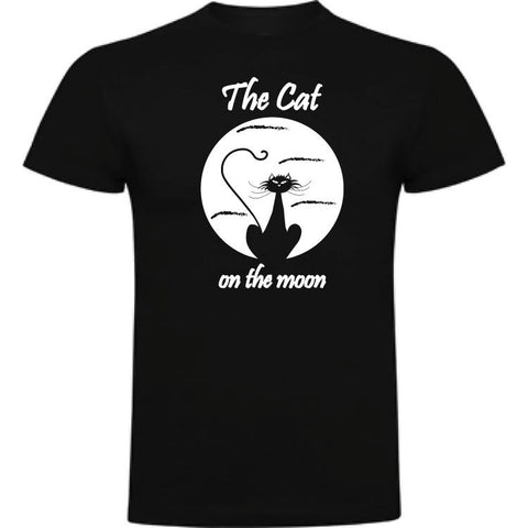 Camiseta infantil algodón - The cat on the moon
