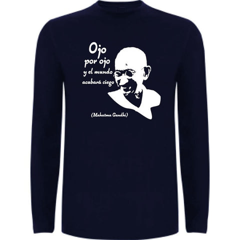Camiseta manga larga chico - Gandhi
