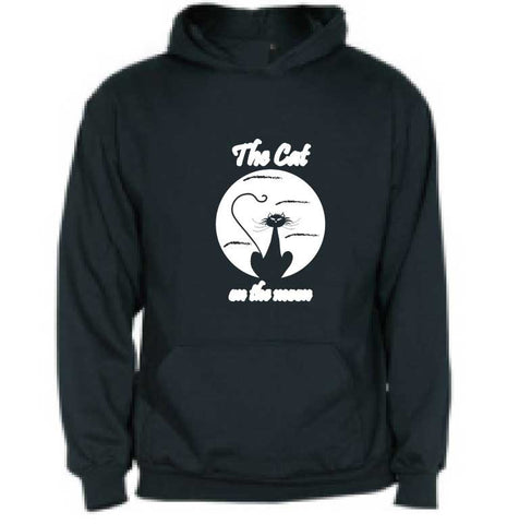 Sudadera infantil con capucha - The cat on the moon