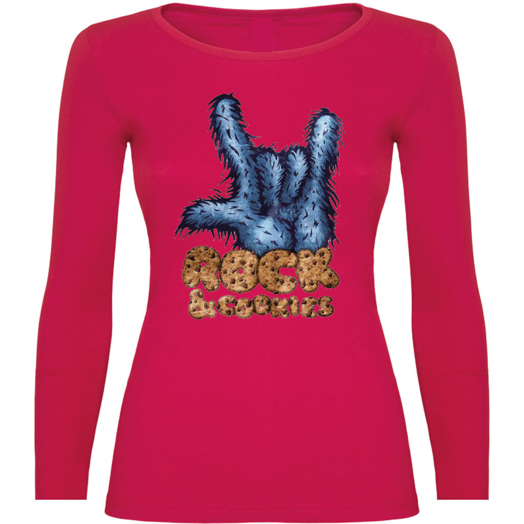 Camiseta mujer manga larga - Monster cookies