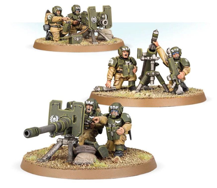 Astra Militarum: Cadian Heavy Weapons Squad