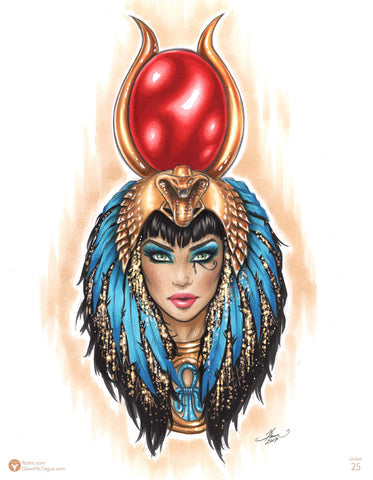 Pearl Print: Goddess of Egypt