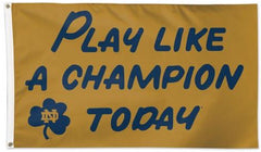 Notre Dame Play Like A Champion Today Flag