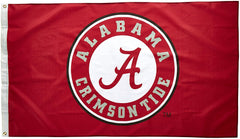 Alabama Crimson Tide Logo Flag