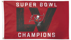 Tampa Bay Buccaneers Super Bowl LV Champions Flag