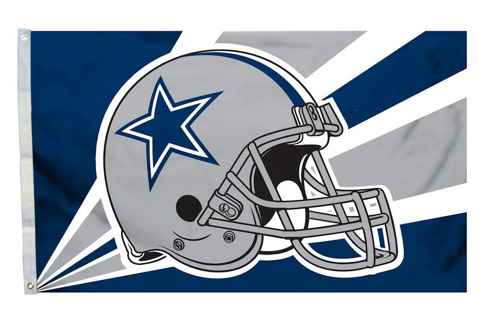 Dallas Cowboys Helmet Flag