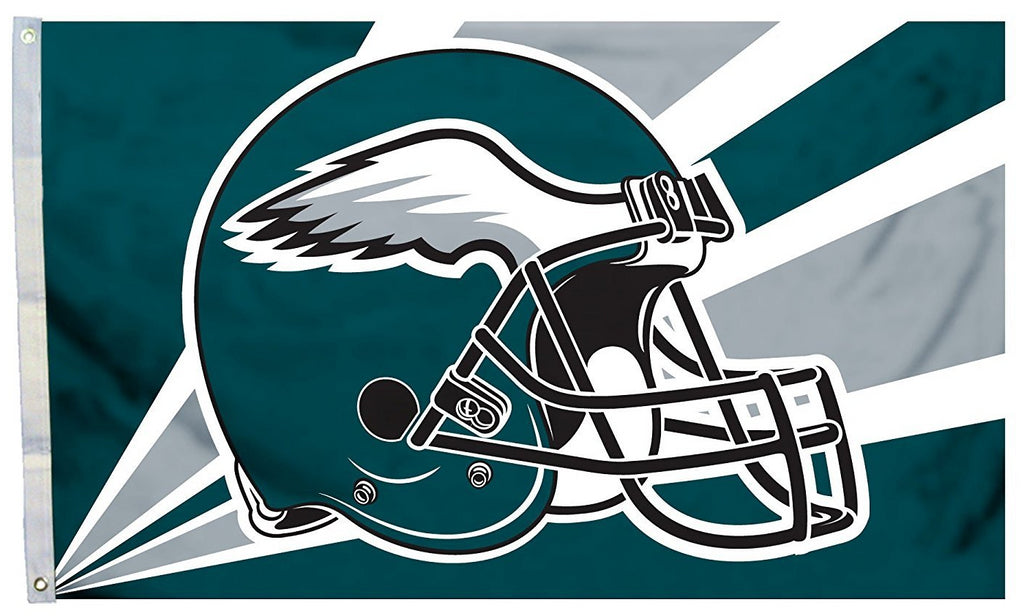 Philadelphia Eagles Helmet Flag