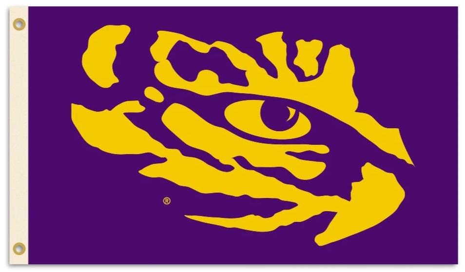 LSU Tigers Louisiana State Logo Flag