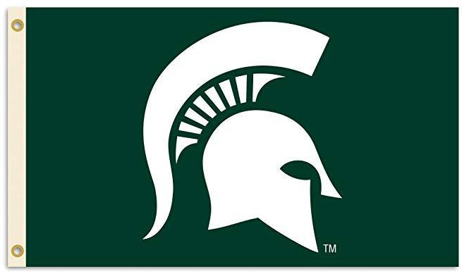 Michigan State Spartans Logo Flag