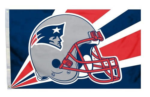 New England Patriots Helmet Flag