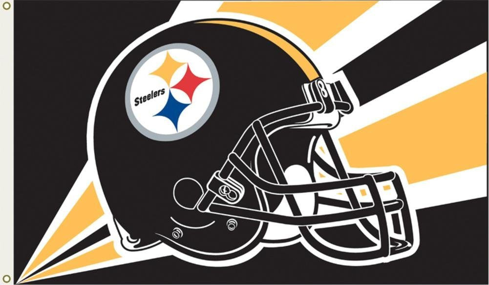 Pittsburgh Steelers Helmet Flag