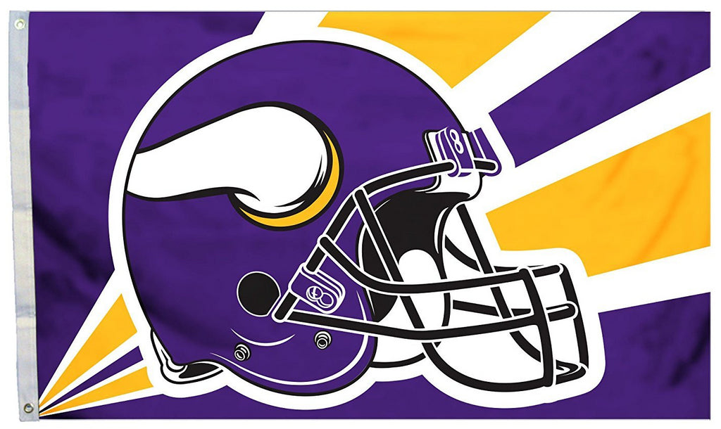 Minnesota Vikings Helmet Flag