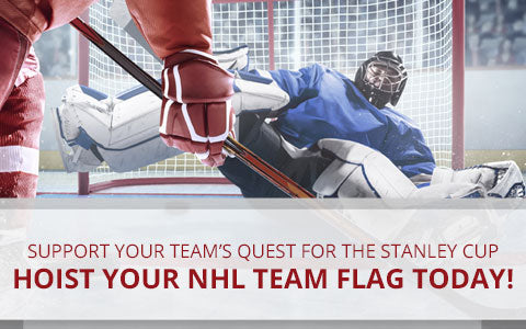 Hoist Your NHL Team Flag Today