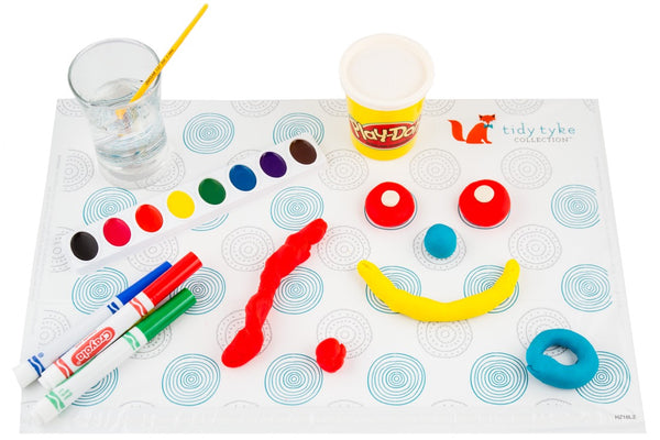 Adorable EXTRA STICKY Disposable Placemats for Babies and Toddlers - Tidy Tyke Collection -3 Packs of 20 mats