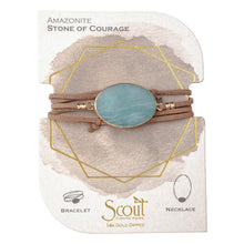 suede + stone wrap bracelet - stone of courage
