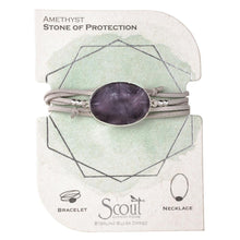 suede + stone wrap bracelet - stone of protection