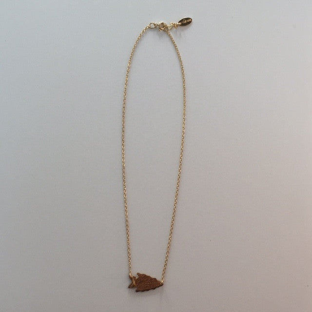 identity wander arrowhead choker necklace