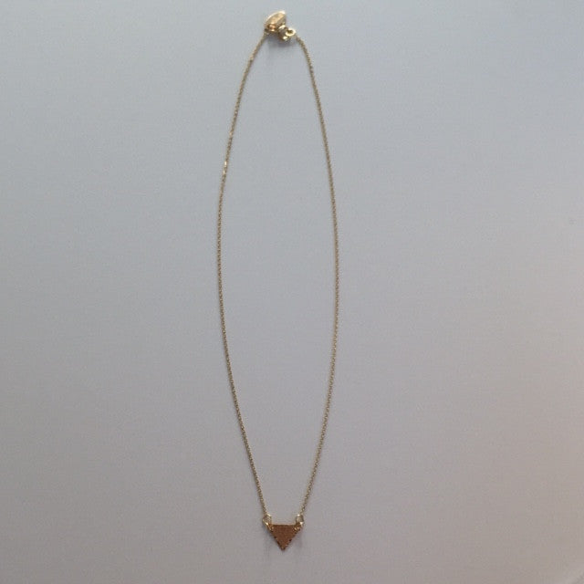 identity mini triangle choker necklace