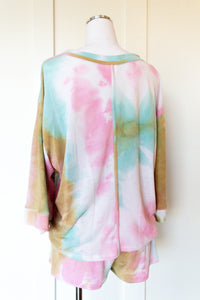 stay home tie dye pullover