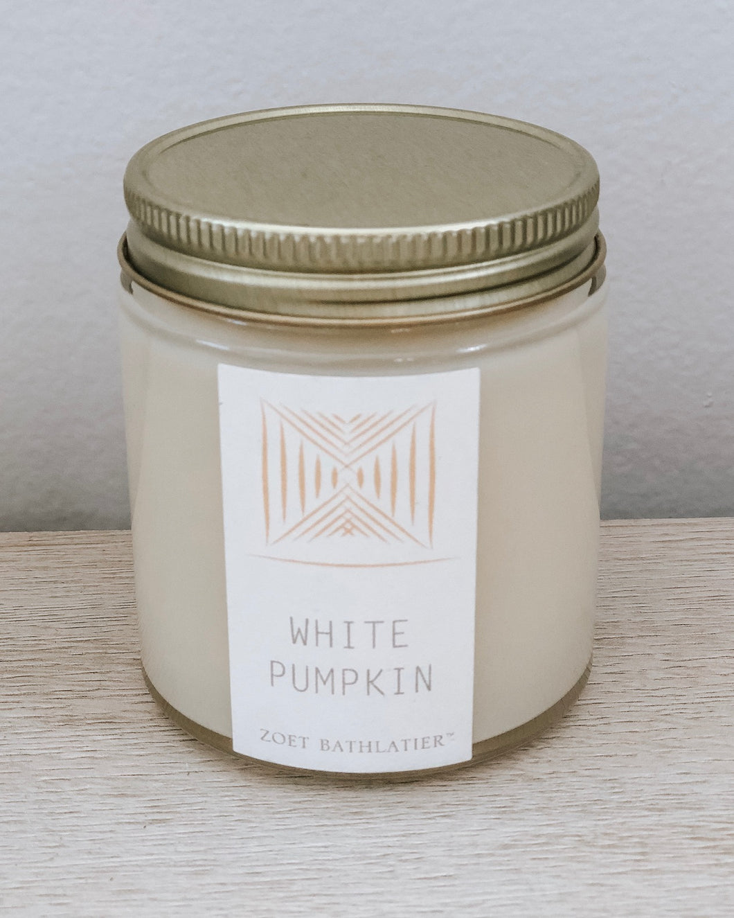 mini artisan candle - white pumpkin