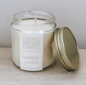 mini artisan candle - oakmoss lichen