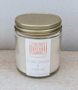 mini artisan candle - blood orange & jasmine