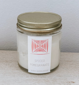 mini artisan candle - spiced pomegranate