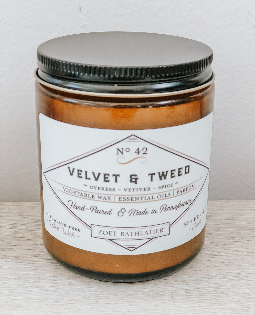 vintage candle collection - velvet & tweed