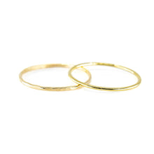 stacking rings - hammered