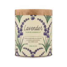 grow kit waxed planter - lavender