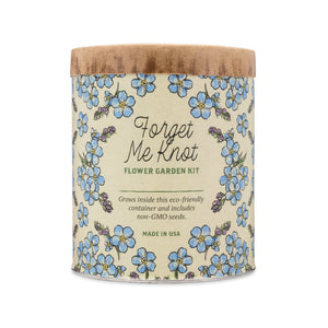 grow kit waxed planter - forget me knot