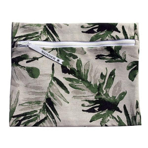 water resistant zipper bag - stand tall palm frond