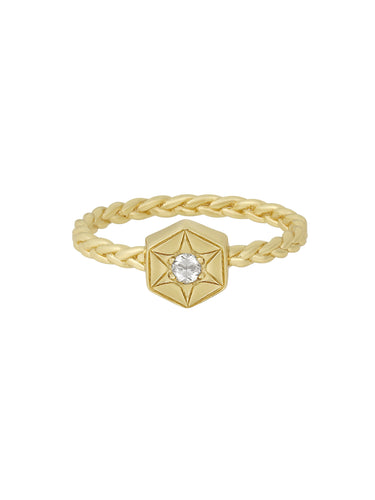 yara | braided star ring
