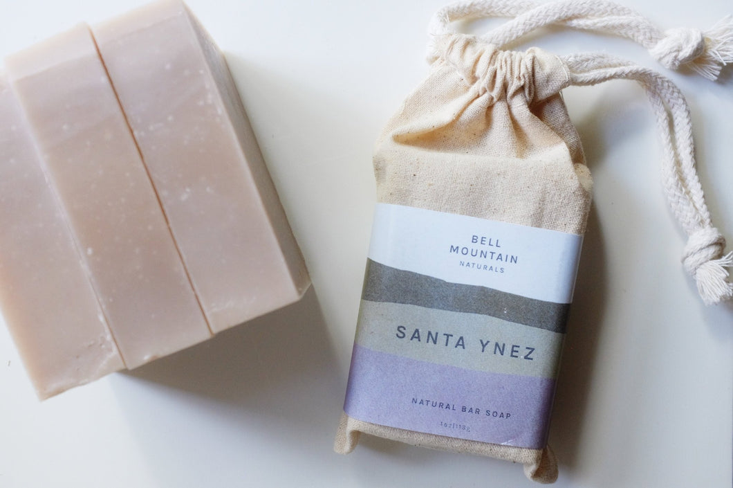 bell mountain naturals bar soap santa ynez