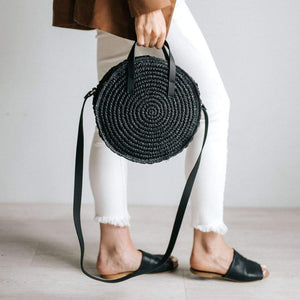 cugina straw crossbody bag