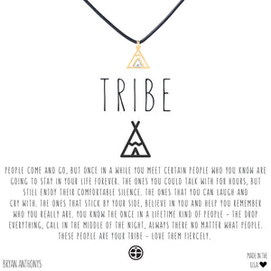 bryan anthony's tribe friendship leather cord inspirational choker necklace