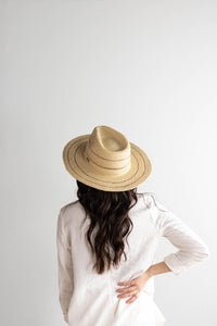 camila fedora hat with stripes