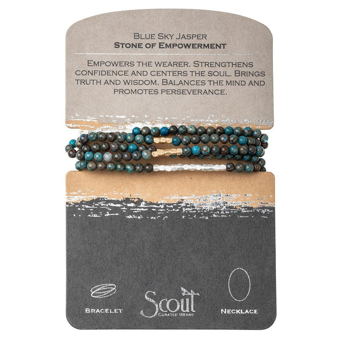 stone wrap bracelet + necklace - stone of empowerment