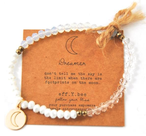 ombre tri-color crystal bracelet - dreamer