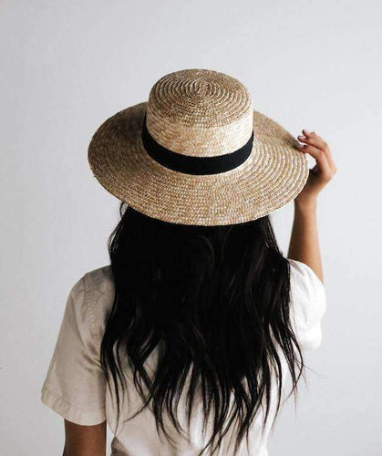 faye medium straw boater