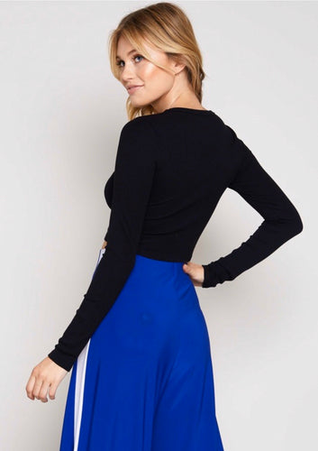 mandy ribbed long sleeve crop