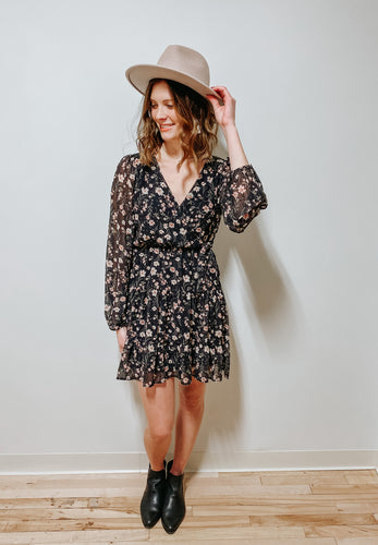 angelica floral mini dress