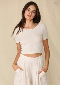 swifty ribbed crop