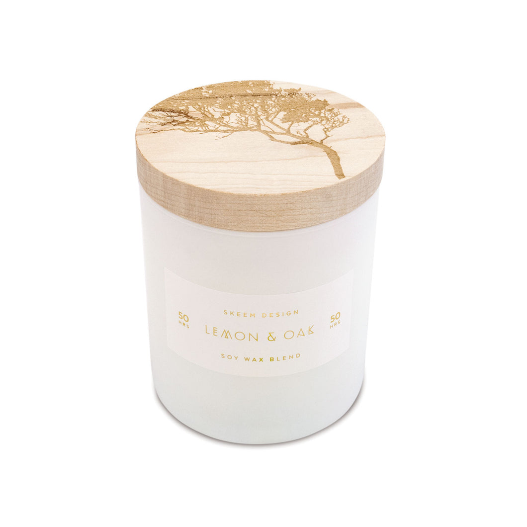 print block collection candle | lemon + oak