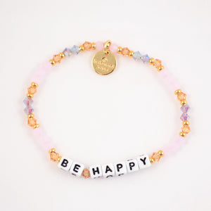 letter bead bracelet |  be happy