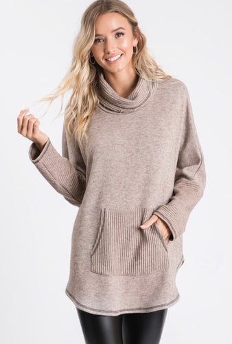 carolyn cowl neck sweater