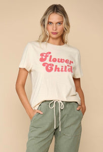 """flower child"" graphic tee"
