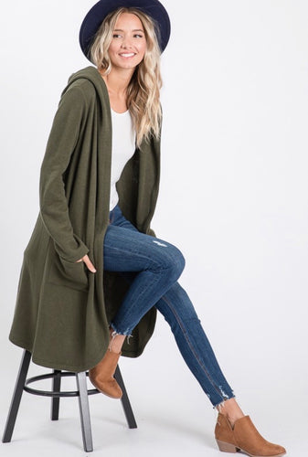 tracy longline pocket cardigan