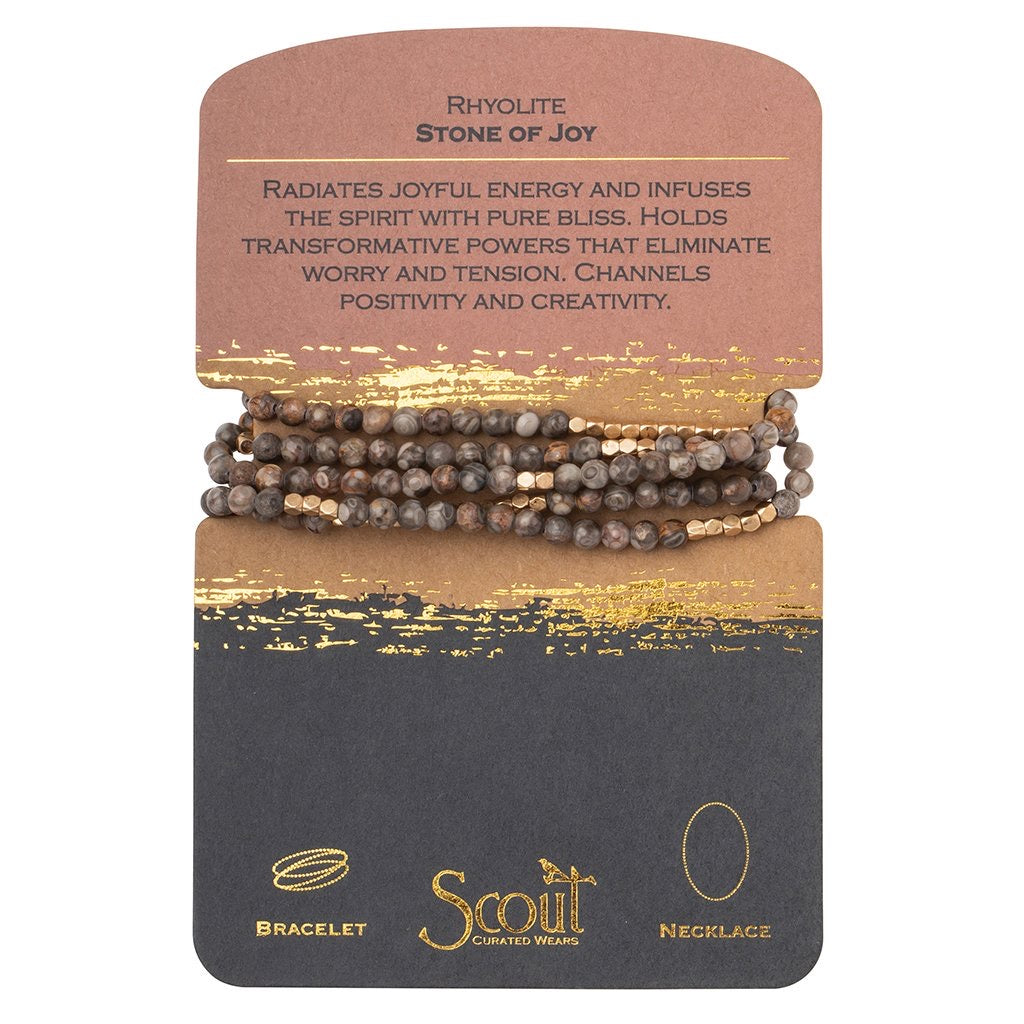 stone wrap bracelet + necklace | stone of joy
